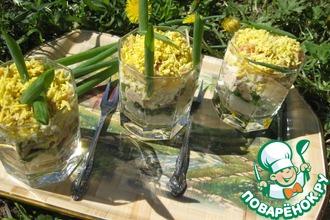 Салат слоеный с рисом