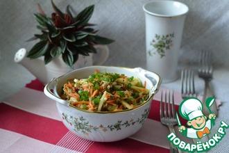 """Салат из овощей и мяса """"Обеденный"""""""