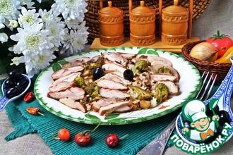 Рис с брокколи и куриным гиросом