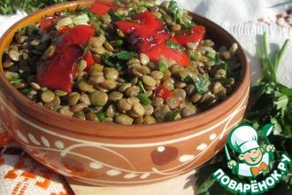 Чечевичный салат со сладким перцем