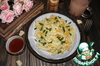 Макароны с кукурузой в сливочном соусе
