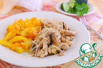 Куриное филе в горчично-чесночном соусе