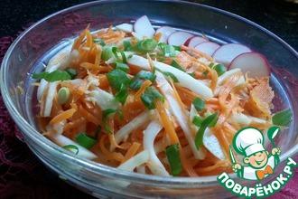 Салат с кольраби и морковью по-корейски