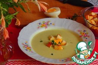Кабачковый суп с луком-пореем