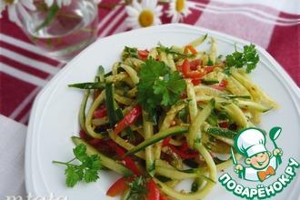 Быстрый салат из свежих огурцов