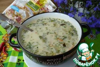 Польский суп с солеными огурцами