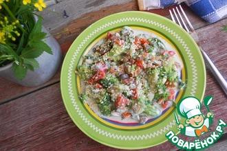Салат из брокколи с перцем