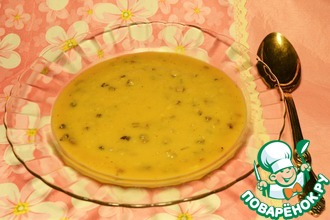 Овощной суп с опятами и чечевицей