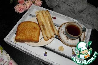 Бутерброд с жареным луком и сыром