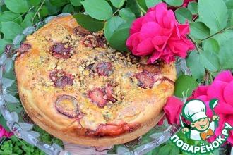 Пирог на сметане с фруктами