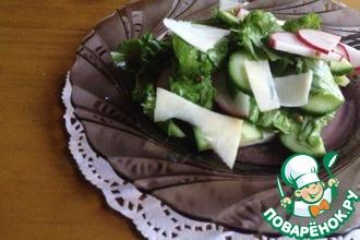 Салат с редисом и огурцом
