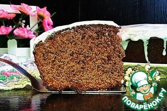 "Шоколадно-черемуховый пирог ""Весенний"""