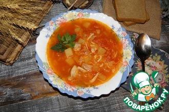 Суп куриный с томатами