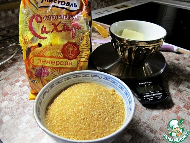 Для яркости вкуса используем коричневый сахар Демерара от Мистраль.