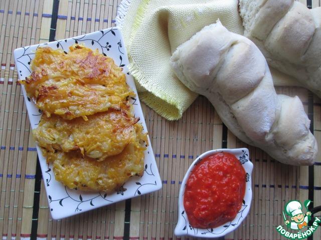 Можно подать к овощным блюдам, можно просто с хлебом. У меня багеты, которые я пекла по рецепту Жени ( JeSeKi) http://www.povarenok .ru/recipes/show/123 138/