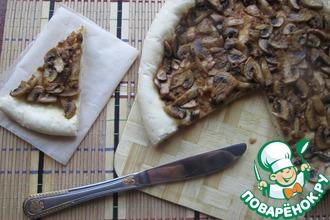 Открытый постный пирог с грибами