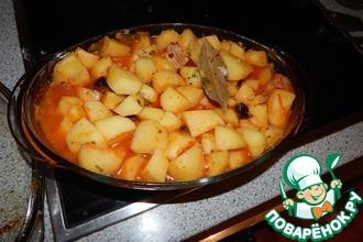 Свинина с картофелем и черносливом
