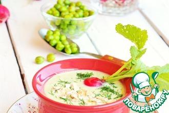 Холодный овсяный суп-пюре с овощами