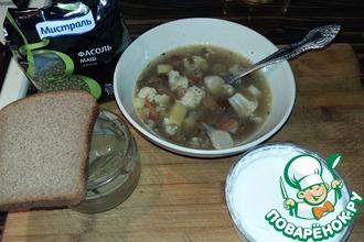 Суп с фасолью и цветной капустой