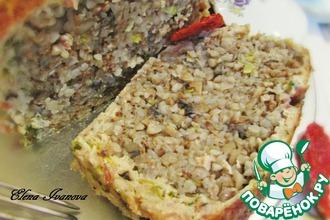 Мясной хлебец с гречкой и шампиньонами