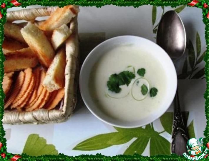 """Пикантный суп """"4 сыра"""""""