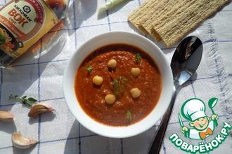 Постный суп-пюре на томатном соке