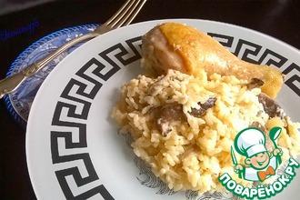 Курица в сметане с рисом