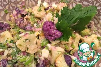 Пикантный салат из печеной капусты