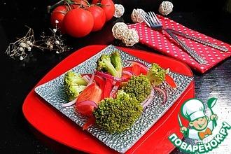 """Салат с овощами и брокколи """"Простой"""""""