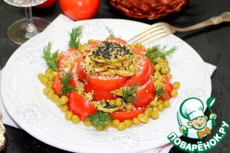 """Овощной салат """"Аленький цветок"""""""