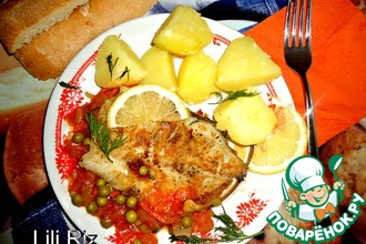 Рыба с овощной подливкой