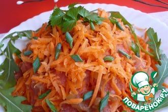 Салат из моркови с соленым огурцом