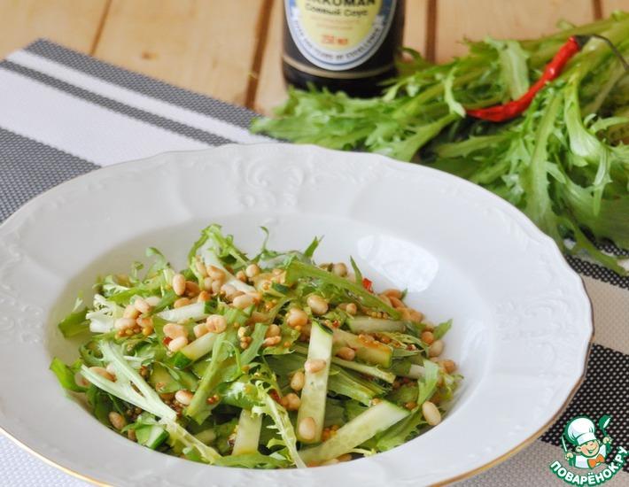 """Салат с рукколой по-китайски """"Одуванчики"""""""