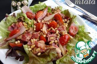 Хрустящий салат с беконом