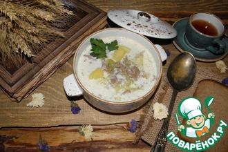 Сливочный суп с молодой капустой