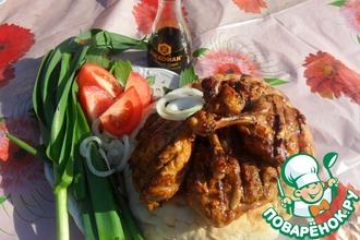 Куриные бедра в соевом маринаде
