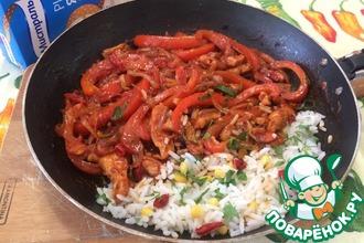 Мексиканская сковорода с рисом