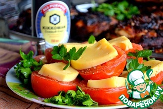 Сырные пряные томаты-гриль