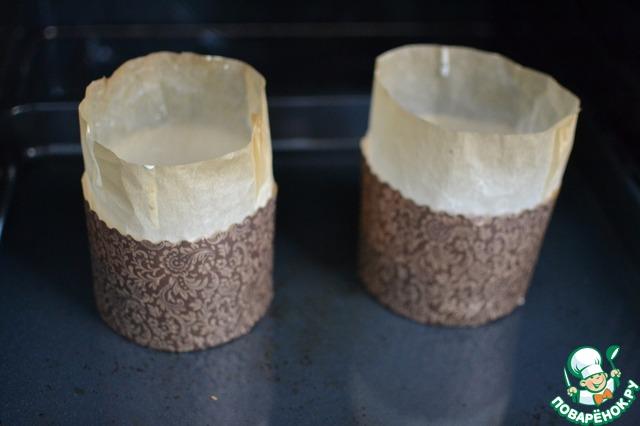 Вылить тесто в формы и выпекать при 180 гр. примерно 30-50 минут.