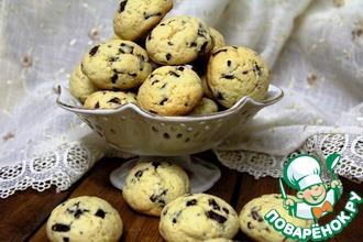 Печенье на пудинге с шоколадными каплями
