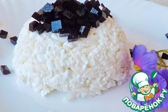 Рис с творогом и черничным мармеладом