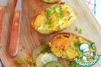 Пикантный фаршированный картофель