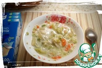 """Сливочный овощной суп """"По мотивам чаудера"""""""