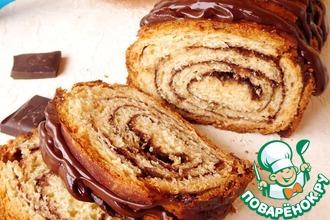 Шоколадный пирог-рулет