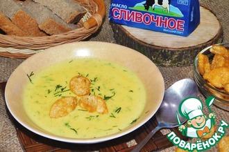 Крем-суп с копченостями