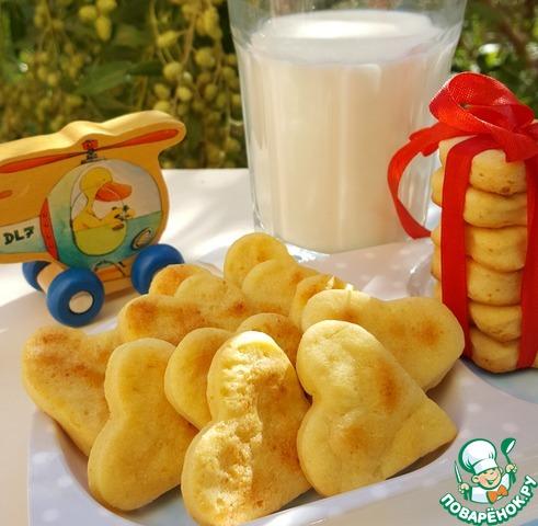 Подайте печенье с молоком, чаем или компотом. Приятного аппетита и отличного настроения Вам и Вашим чадам!