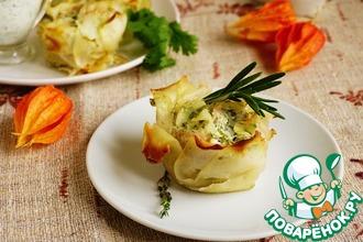 Картофельно-мясные розы