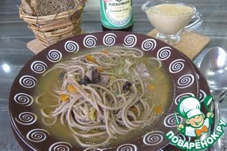 """Мясной суп с лапшой """"Азиатские мотивы"""""""