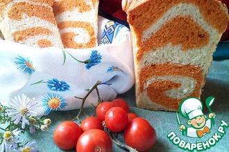 Томатный хлеб с рисунком