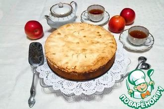 Рождественский пирог с творожно-яблочной начинкой